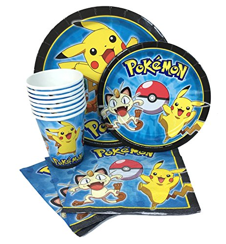 Pokemon Party Express Pack for 8 Guests (Cups Napkins & -