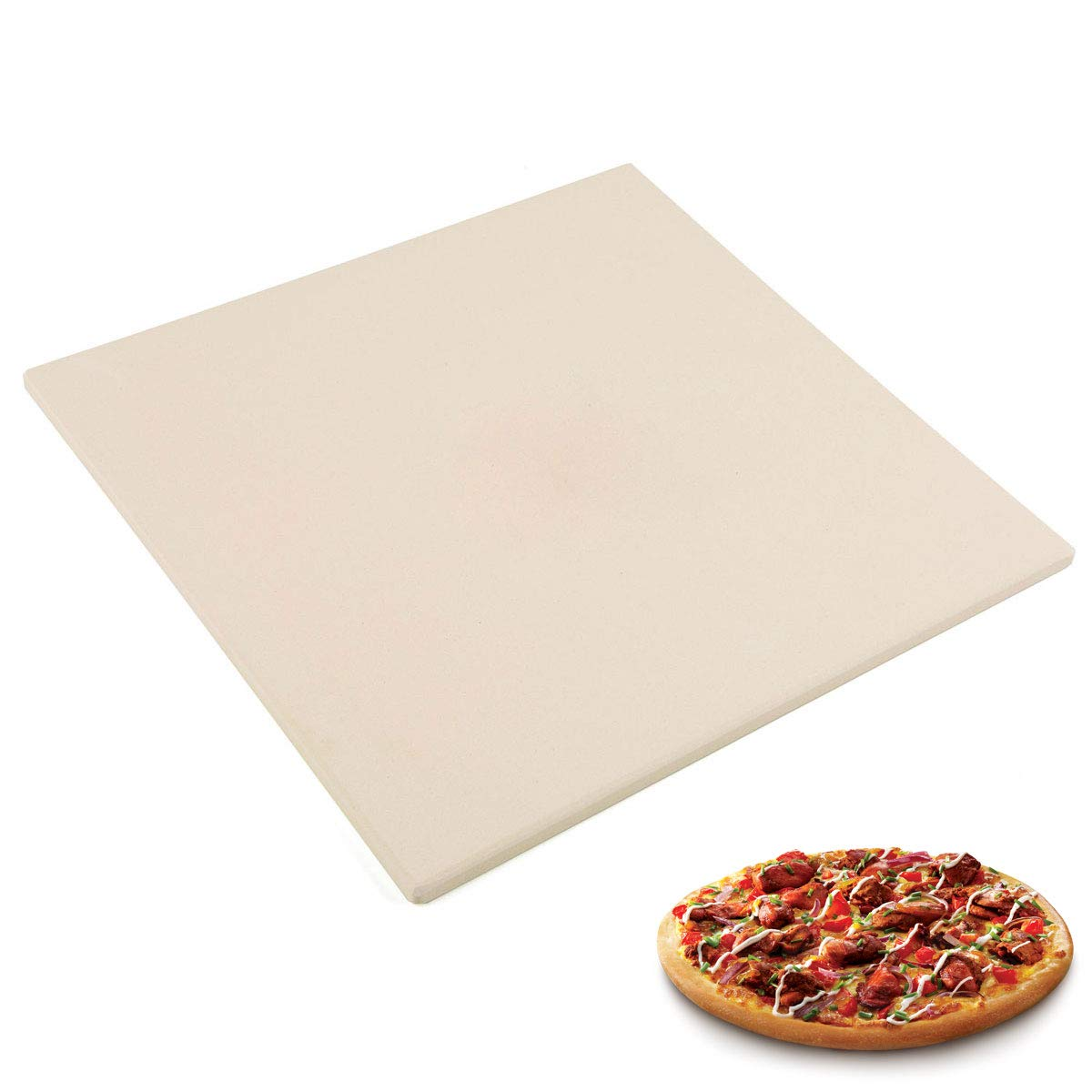 "Waykea 10"" x 10.4"" Pizza Stone for Toaster Oven 