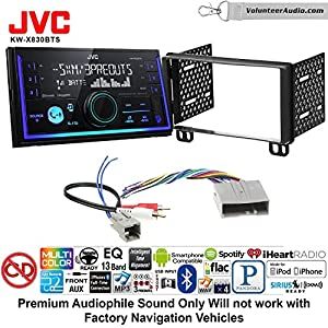 Volunteer Audio JVC KW-X830BTS Double Din Radio Install Kit with Bluetooth SiriusXM Ready Fits 2003-2006 Expedition, 2004-2006 Navigator