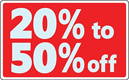 Venta 20% 50% de descuento negocio señal al por menor Tienda ...