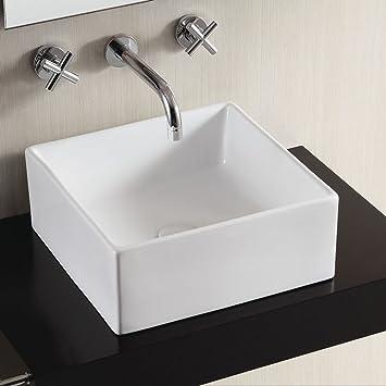 Bad Waschbecken perla dünne keramik aufsatz waschbecken bad waschbecken eckig