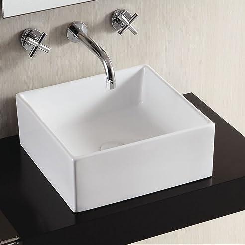 Perla Extra Dünne Keramik Aufsatz Waschbecken Bad Waschbecken
