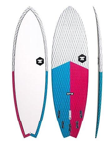 7S Unisex Super Pescado 3 Carbono Vector Tabla de Surf, Blue Red
