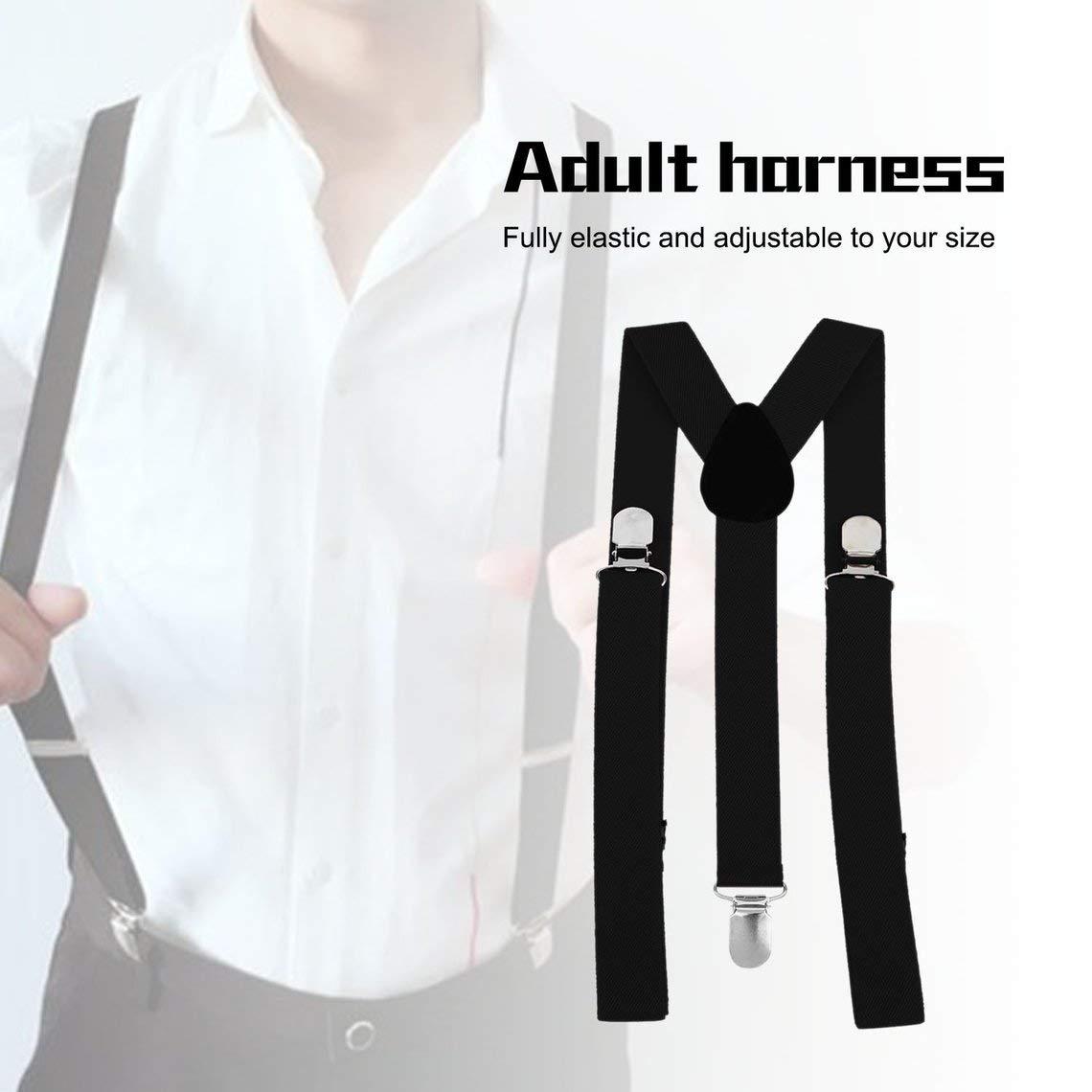 Zinniaya Unisex Mujer Hombre Y Forma El/ástico Clip-on Tirantes Correa Pantalones Tirantes Ajustable Tirantes Adultos 3 Clip Suspender Correa Correa