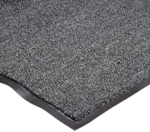 NoTrax T37 Fiber Atlantic Olefin Entrance Carpet Mat, for Wet and Dry Areas, 2' Width x 3' Length x 3/8'' Thickness, Gun Metal by NoTrax Floor Matting