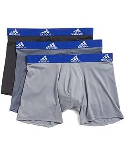 bee186215 adidas Men s Athletic Stretch Cotton Trunk Underwear (2-Pack ...