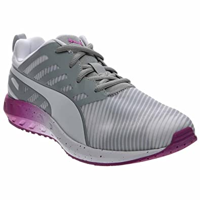 Puma Women's Flare Graphic White/Quarry/Purple Cactus Flower Ankle-High Running  Shoe