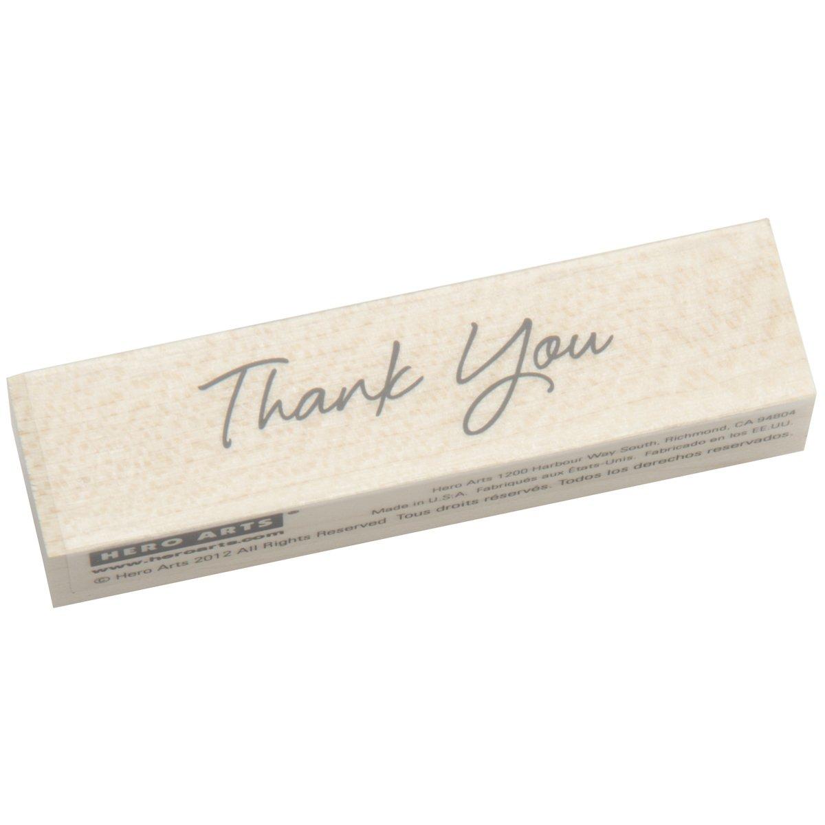 Hero Arts Woodblock Stamp, Little Greetings Thank You Inc. C5589