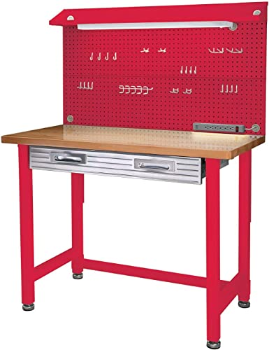 Seville Classics UltraHD Lighted Workbench Red Mart4u