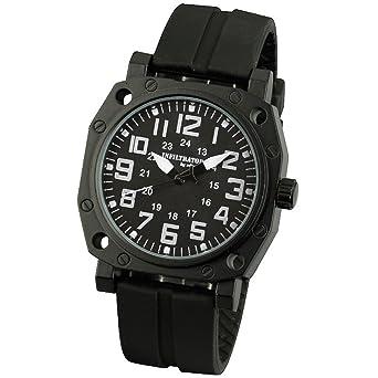 infantry® mens analogue quartz wrist watch black sports tactical infantry® mens analogue quartz wrist watch black sports tactical rubber strap infiltrator