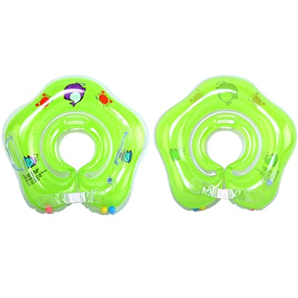 GEZICHTA Flotador de natación para bebés para piscina, juguetes inflables, flotador para recién nacido