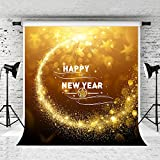 Kate 5x7ft 2018 Happy New Year's Eve Backdrop Golden Glittle Photo Background for Party Photography Microfiber Studio Prop Backdrops