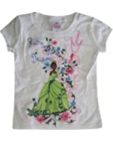 Disney Little Girls White Princess And The Frog Short Sleeved T-Shirt 4-6X