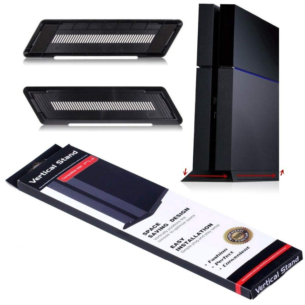 Kailisen Vertical Stand for PS4 Playstation 4 Console (Black)