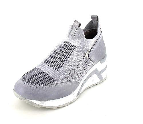 Cetti - Mocasines de Tela para Mujer Gris Knilting Stone, Color Gris, Talla 40 EU: Amazon.es: Zapatos y complementos