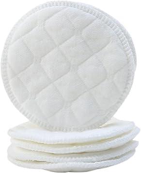 Per puro algodón discos de lactancia Thin transpirable – lavable y ...
