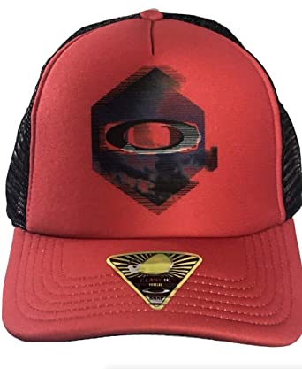 215b0569936 Image Unavailable. Image not available for. Color  Oakley Men s Graphic  Foam Trucker Hat in Red ...