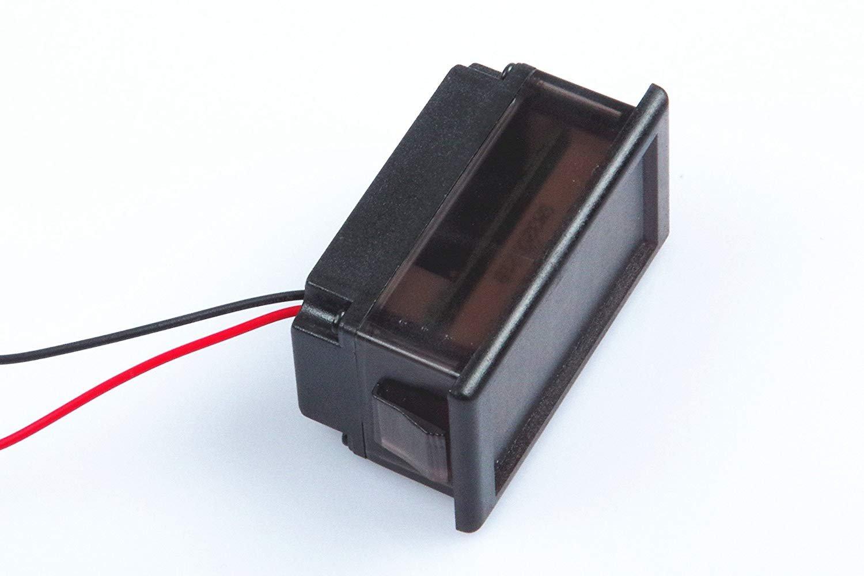 Waterproof Monitor 2-Wires DC 3.5-150v 12v 24v 36v 72v 96v Volt Battery Meter Voltage Tester Automative Electric Cars Gauge Small Digital Voltmeter BLUE 0.52'' LED Display by TOFKE (Image #7)