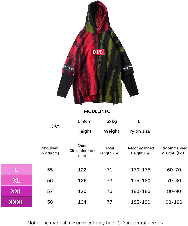 Original Design Irypulse Herren Kapuzenpullover Hoodies Sweatshirts Pullover Langarm Kariertes Casual Tops Mode Urban Stil Trend Retro Hip Hop Jugendliche Jungen f/ür Reisen Freizeit Outdoor