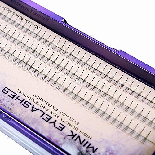 Scala 60PCS C Curl 3 Root Thickness 0.07mm Individual Lashes Black False Eyelash Natural Soft Long Cluster Extension Makeup Beauty Health Makeup Fake Eyelashes (13mm)