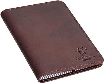 Funda de Cuero para Pasaporte Gusti Leder Brodie Estuche Protector Documentos Cuero de Buey Burdeos 2S40-33-9: Amazon.es: Equipaje