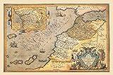 Nautical Map Northwestern Africa Print 20'' X 30''