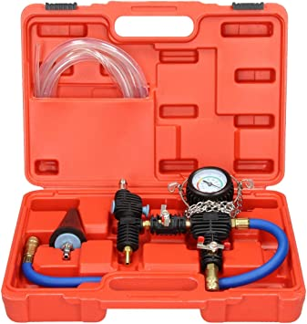 Auto Repair Changer Kit Radiators Cooling System Water Antifreeze Changer Vacuum Purge Coolant Refill Tool Kit Pressure Compression Tester