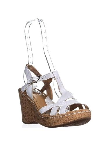 85150ffd34fa6 B.O.C. Women Eponine White Wedge Sandals 9 M US