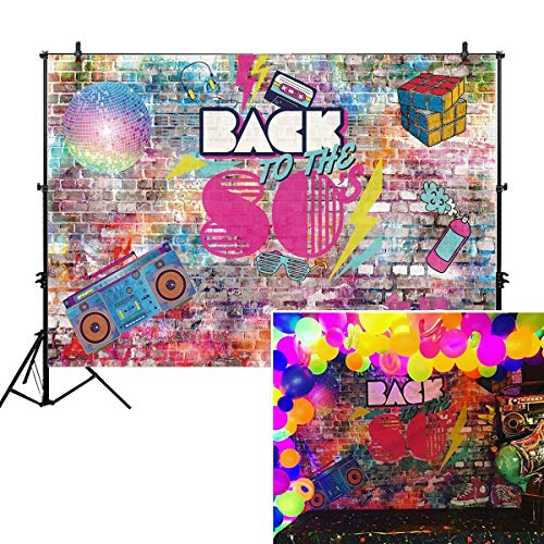 Allenjoy 7x5ft Photography backdrops Hip Hop 80's 80th Rock Punk Adults Party Decoration Decor Birthday Party Event Banner Photo Studio Booth Background photocall