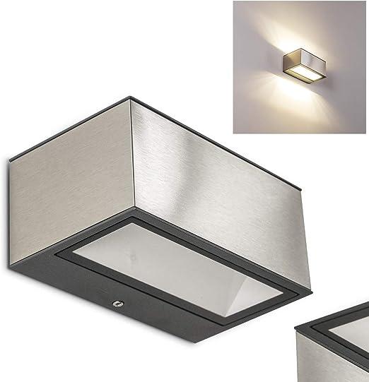 Spider – Lámpara de pared exterior de metal acero inoxidable – – lámpara led de pared para patio – Fachadas – Jardín: Amazon.es: Iluminación