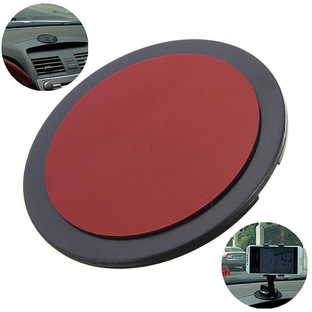 Paquete de 4 - MAXGOODS 70mm Disco de Montaje Adhesivo Ventosa Soporte para Telé fono/ Tablet/ GPS/ Tableros/ Instrumentos de Coches/ Smartphone