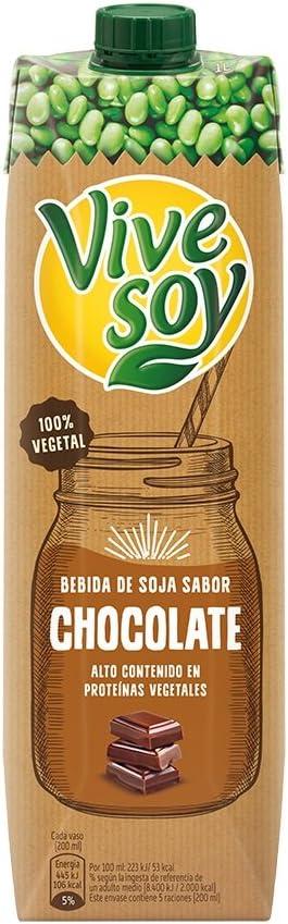 Vivesoy Bebida de Soja Sabor Chocolate, 1L