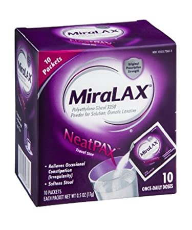 Miralax Single Dose Sache Size 10ct