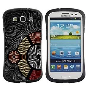 Be-Star Impreso Colorido Diseño Antichoque Caso Del iFace Primera Clase Tpu Carcasa Funda Case Cubierta Par SAMSUNG Galaxy S3 III / i9300 / i747 ( Cool Abstract Maze Pattern Aztec Tribal Line )