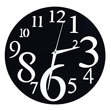 TOPmountain Reloj de Pared Morden Digital Grande Reloj Antiguo de la Vendimia Morden Interior Cocina Interior