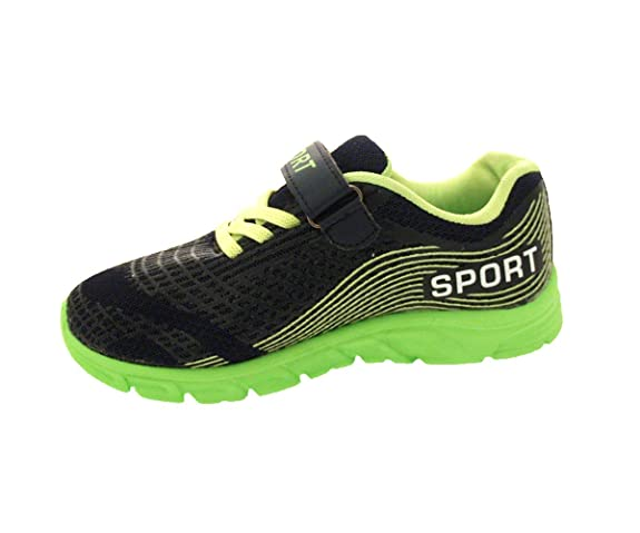 Children's Kids Boys Girls Sports Running Gym Sneakers (13 M US Litte Kid,  Navy / Green): Amazon.ca: Shoes & Handbags