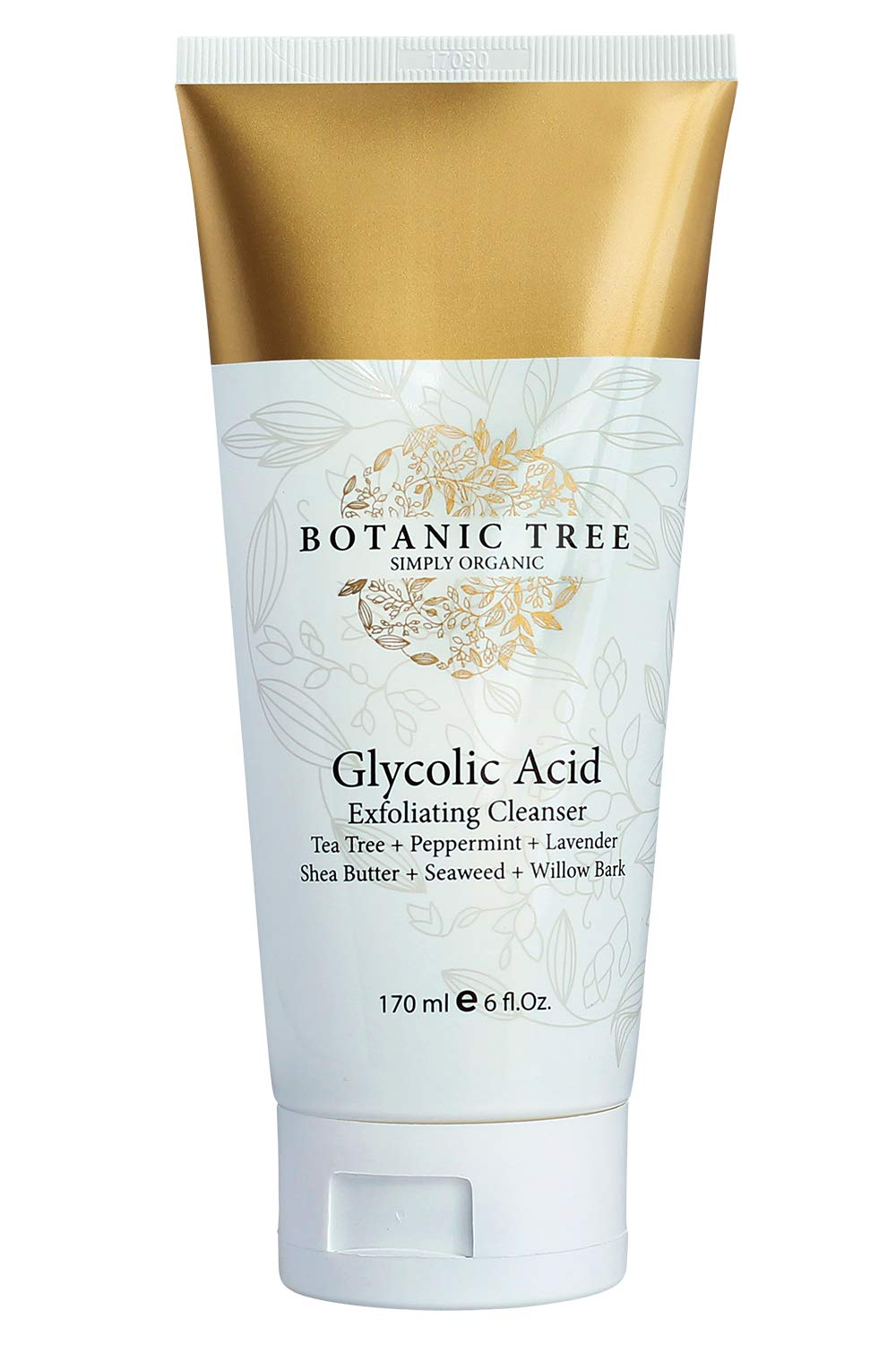 Glycolic Acid Face Wash Exfoliating Cleanser 6Oz w/10% Glycolic Acid- AHA For Wrinkles and Lines Reduction-Acne Face Wash For a Deep Clean-100% Organic Extracts. by Botanic Tree