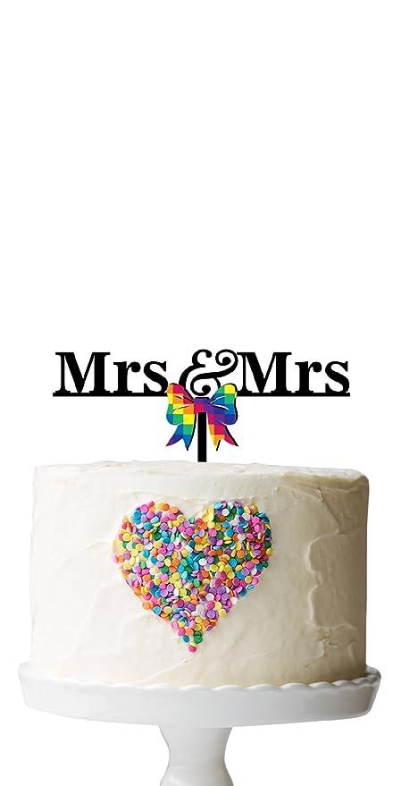 La Señora - la Señora Raibow lazo decoración para tarta para boda ...