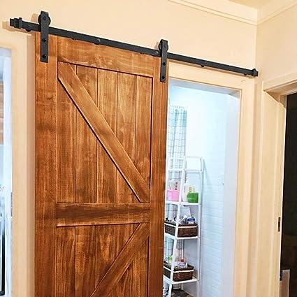 Yaheetech 200 cm Kit de Accesorios de Puertas Herraje para Puertas Corredera Carril para Puerta Deslizante: Amazon.es: Bricolaje y herramientas