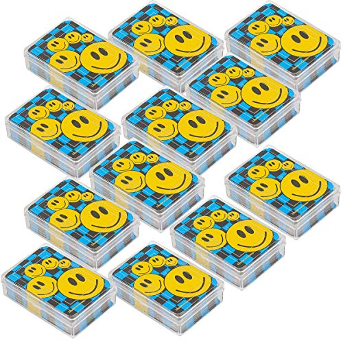 (Kicko Mini Smiley Face Playing Cards - 12 Decks of 2.5