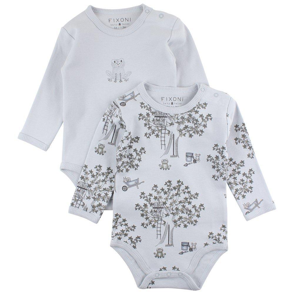 Fixoni Baby-Jungen Formender Body Grow Ls, 2er Pack 33102