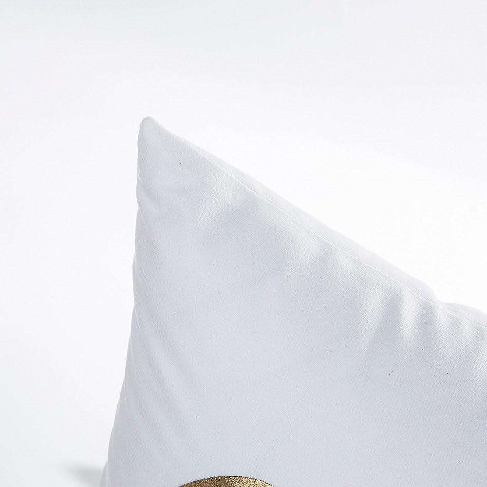 Staresen Kissenh/ülle 45x45cm Kissenbezug mit Bronzing Print Quadrat Couch Kissen Zierkissenbezug Home Decor Bettw/äsche Couchkissen Bez/üge Sofa Wohnzimmer Kissenbez/üge Dekorative
