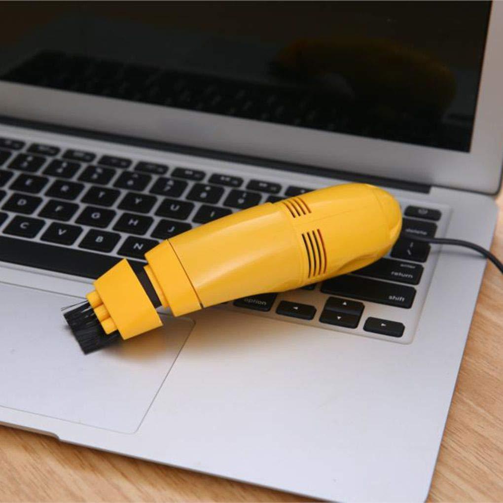 Flushzing KeyboardUSB Equipo Aspirador port/átil PC de Escritorio Teclado Port/átil Limpieza del Polvo del Cepillo