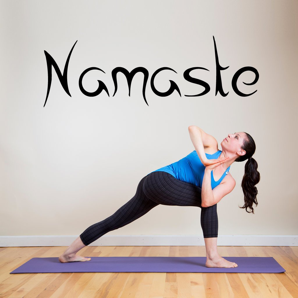 Amazon Wall Decal Sticker Bedroom Namaste Quote Yoga Greeting