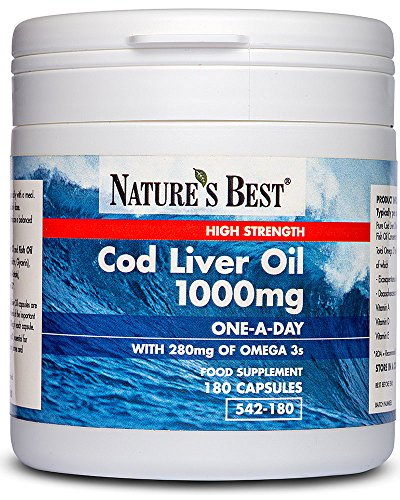High Strength Cod Liver Oil 1000mg – UK's Strongest, One-A-Day Formula...