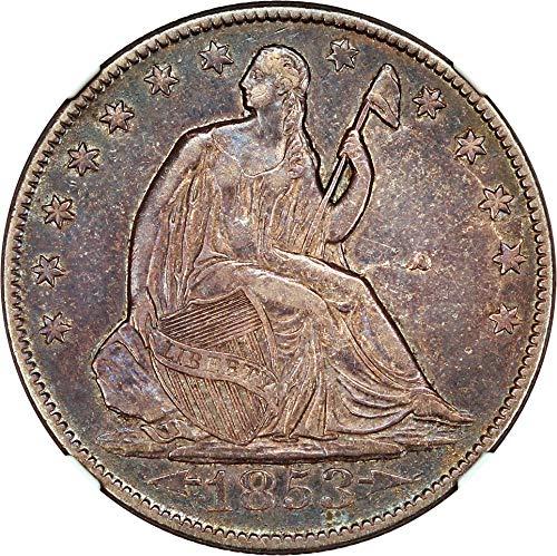 (1853 O Liberty Seated Half Dollars Arrows & Rays Half Dollar XF45 NGC )