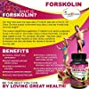 Forskolin Weight Loss Formula 400MG 30Capsules Helps Leptin Levels - Caralluma Garcinia Cambogia Horsetail Powder Biotin - Helps Women and Men Lose Weight Burn Fat Fast No Side Effects - Made In USA