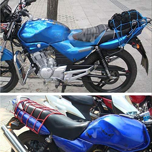 Jullyelegant 30x30 cm Equipaje de Malla de Carga Accesorios Netos del Coche Motocicleta Bicicleta Casco Titular 6 Ganchos Sostener Malla Bolsa Neta Auto Car Styling Tool