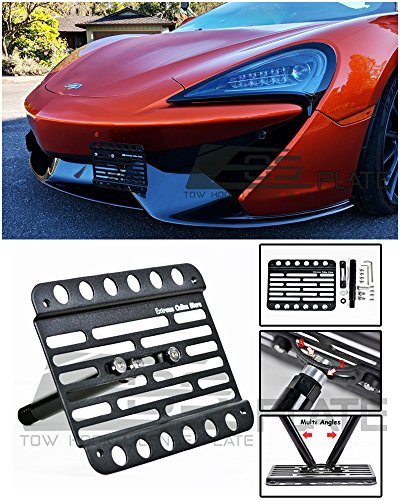 Extreme Online Store for 2016-Present McLaren 570S | EOS Plate Version 1 Front Bumper Tow Hook License Plate Relocator Mount Bracket Tow-404 (Mid Size) – Go4CarZ Store
