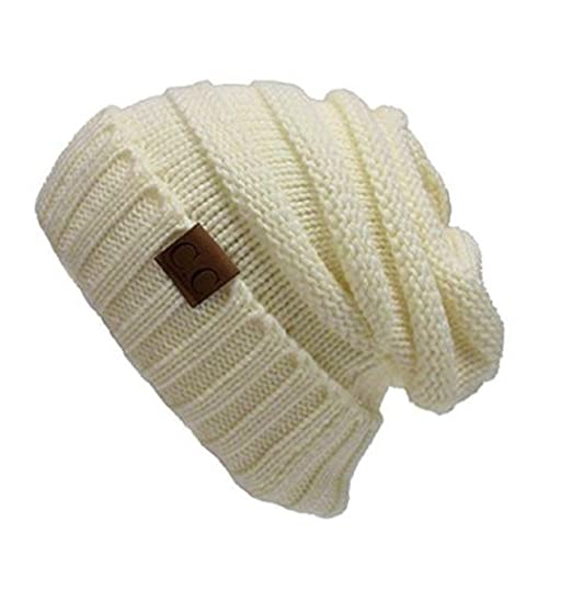 f3e1e6a937d Beanie Toque Hats Soft Stretch Knit Slouchy for Women Winter Warm Chunky  Oversized Trendy Solid